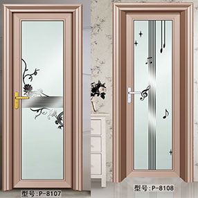 金太阳合金门P-8107,P-8108 盼盼木门