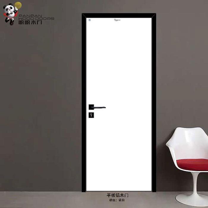 盼盼平板铝木复合免漆门瓷白丨盼盼木门